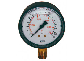 "Manometer hydrauliek 0-160 bar 1/4"" Ø60mm"