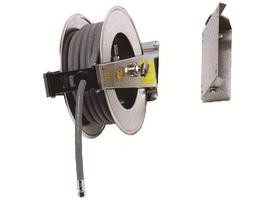 Automatic hose-reel in stainless steel