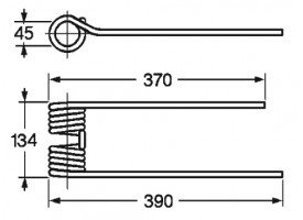 Cirkeltand RD. toepasbaar op KRONE 153.015.1